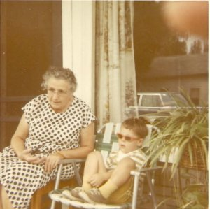 That cool kid is me with my Great Aunt in Ohio