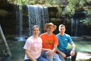 Amy, Scott (me), Andrew two weeks ago at Cainey Creek Falls