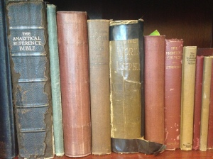 Some of the older books in my library.